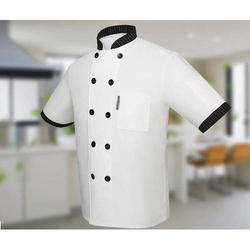 White Cotton Half Sleeve Chef Coat