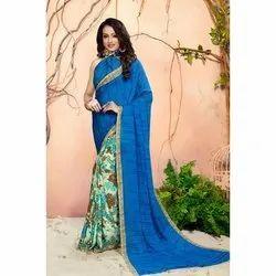 Printed Digital Print Ladies Casual Wear Pure Silk Sarees, Handwash, 6 m (with blouse piece)