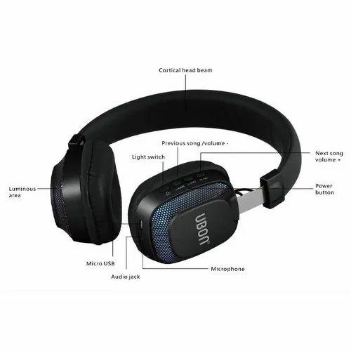 Black Foldable Ubon Bt 5750 Bluetooth Headphones Rs 1200 Piece Id 21696503230