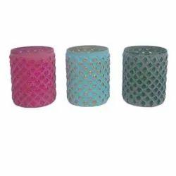 Circular Diamond Glass Vase, Shape: Round