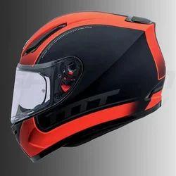 Black And Orange Bike Helmet