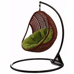 Universal Furniture Bamboo Hanging Swing Chair with Cushion & Hook