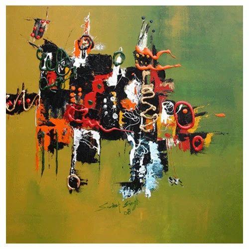 Rhythm of  Colours Acrylic Painting