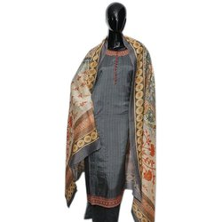 Cotton Ganga brand Ladies Unstitched Printed Suit, Handwash