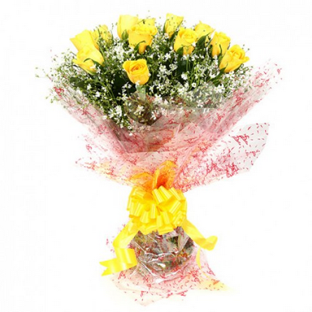 Friendship yellow rose bunch flb23 red flowers dreams service friendship yellow rose bunch flb23 mightylinksfo