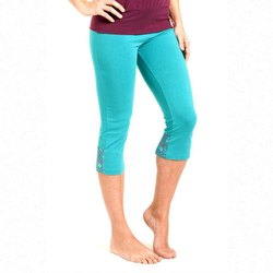 Blue 4 Way Imported Fabric Ladies Capri Shorts