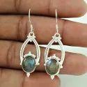 Peridot Gemstone Silver Earrings