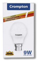 plastic Incandascent Crompton Lightings, For residential, Base Type: B22