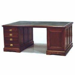 Wooden Partner''s Desk