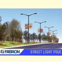 Dual Arm Street Light Pole