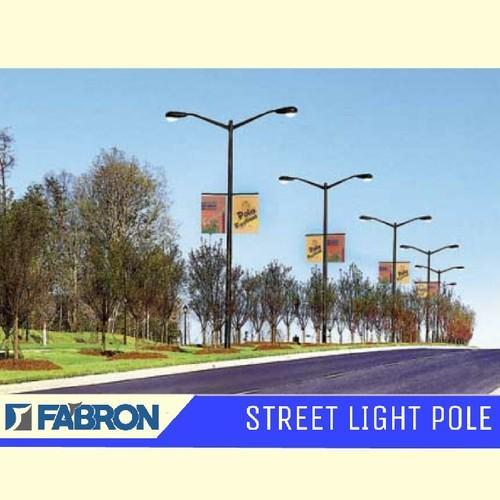 Dual Arm Street Light Pole
