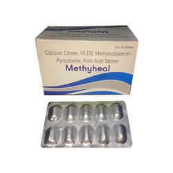 calcium citrate vitamin D3 M- Citrate Methylcobalamin Pyridoxine Folic Acid Tablets
