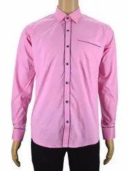 JIK Cotton Pink Plain Shirt