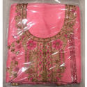 Party Wear Ladies Unstitched Pink Embroidered Suit