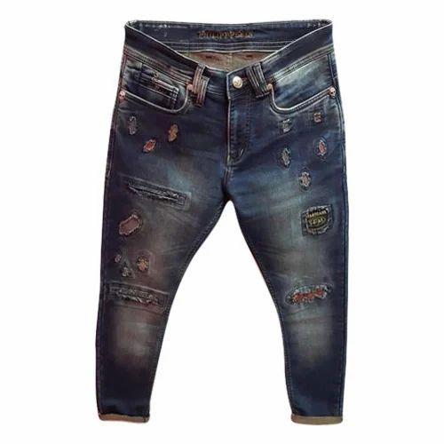 79844eaf15a7e1 Cotton Plain Mens Designer Slim Fit Jeans, Rs 350 /piece | ID ...