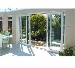 Glass Pop-up Handle UPVC Sliding Doors for Residential