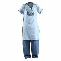 Female Cotton Hospital Staff Salwar Suit, For Hospitals