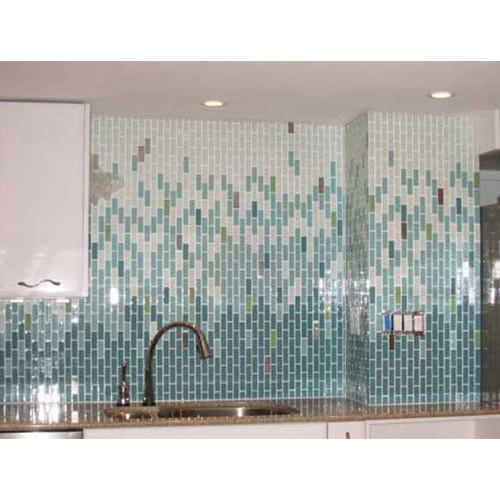 Bathroom Glass Mosaic Tile, Thickness: 5-10 mm, Packaging Type: Box