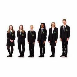 White & Blue Cotton Lycra School Uniforms