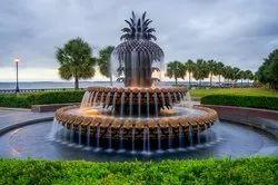 Ocean Mosaic Decorative Pineapple Design Water Fountain, For Garden, 20 Mm
