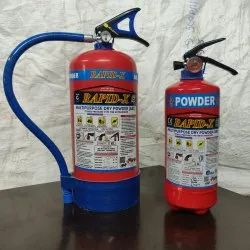A B C Dry Powder Type Mild Steel Fire Extinguisher, Capacity: 4Kg
