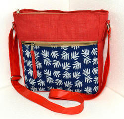 Rubis Bags Trendy Jute Canvas Sling Bag, Size: Regular