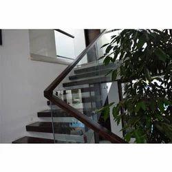 Wooden Glass Handrail