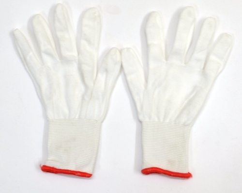 e9adfd0005 Unisex White Nylon Lint Free Fine Quality Hand Gloves, Rs 8.50 /pair ...