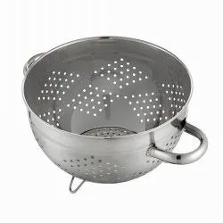 Stainless Steel Colander with Pipe Handle