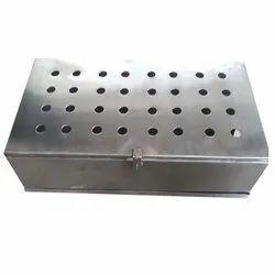 Silver Rectangular SS Panel Box