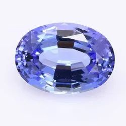 Oval Blue Glass Tanzanite Gemstone