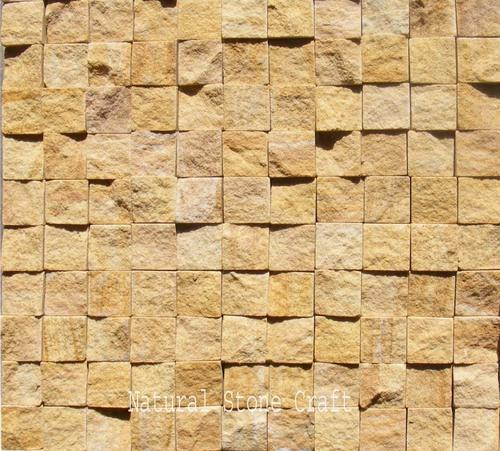 Brown Wall Stone Cladding Tiles Thickness 12 15 Size