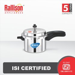 Rallison Outer Lid Grand 5 Ltr Pressure Cooker, For Home