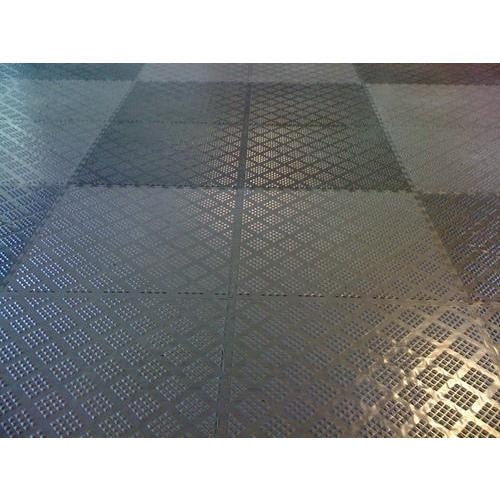 Rubber Black Garage Flooring Mat Rs