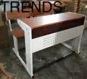 Mild Steel Brown Delhi Govt Classroom Desk