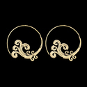 Gold Plated Brass Material Girl's Fashion Spiral Earrings