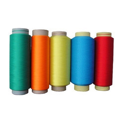 White Polyester Dyed Thread, For Textile Industry, Packaging Type: Reel