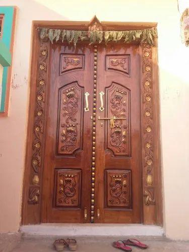 Wood Exterior Designer Wooden Double Door Rs 7000 Piece Panchal