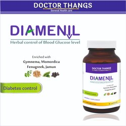Doctor Thangs Diamenil Diabetes Control Capsules, Packaging Type: Container