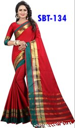 Women's Soft Cotton Silk Sarees