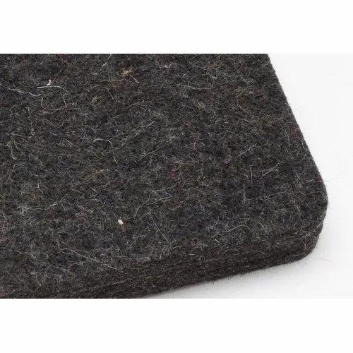 Black Polyester Non Woven Needle Punch Felt