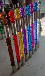 Stainless Steel With Acrylic Railing Pillar, For Balcony and Stairs