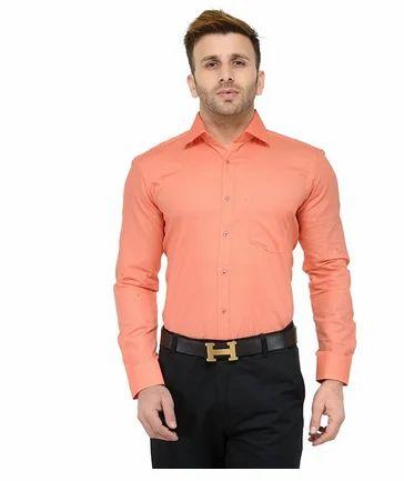 0955fe6180ea RG Designers (Peach) Solid Slim Fit Formal Shirt RGS10723 at Rs ...