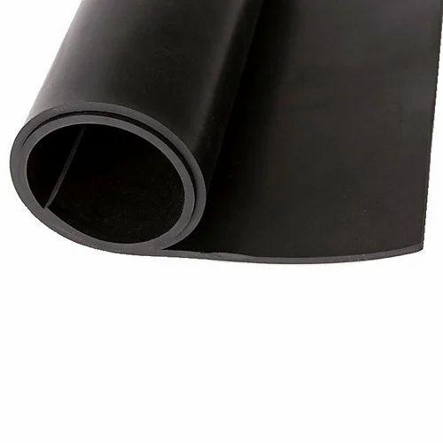 Black Wear Resisting Neoprene Rubber Sheet Rs 15 Square