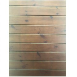 Brown Rectangular Wooden Wall Paneling