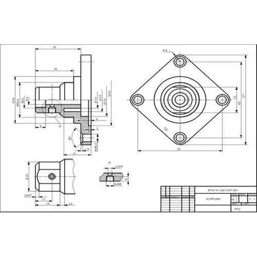 Cad Drawing Computer Aided Design Drawing In Chinchwad