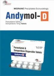 Paracetamol 325 mg   Domperidone 10mg