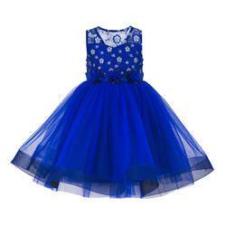 Girls Sleeveless Blue Toddlers Tut Dress, Age: 2-3 year