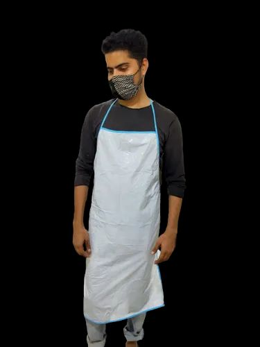 White Plain Plastic Apron, For Safety & Protection, Size: Large