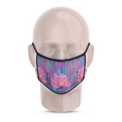 Cool Blue Rajasthani Reusable Printed Face Mask